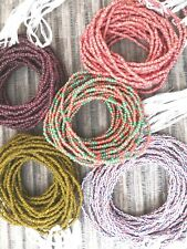 African Waist Beads - 100% Cotton Strings - Single Strand Beads