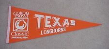 1984 TEXAS LONGHORNS COTTON BOWL GAME DAY Pennant MINT