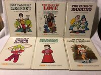 Lot Of 6 Valuetales Hardcover Books Respect, Love, Sharing, Friendship, Humor