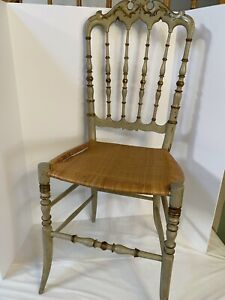 chiappe chair parigina Chiavari Rare Italian Wood Painted Chair Wicker Seat Need