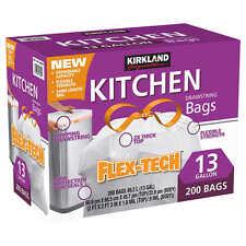 Kirkland Signature Drawstring Kitchen Trash Bags 13 Gallon 200 Ct ...