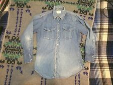 Jc Penny 60's Vintage Ranch Craft Western Denim Shirt