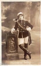 BD847 Carte Photo vintage card RPPC Femme woman Madeleine Teldy Uniforme armée