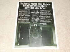 Technics Pro Speakers Ad, 1978, SB-7000a, 6000a, 5000a, Article, Info, 1 page