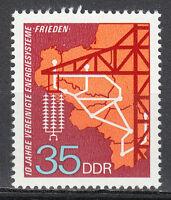 Germany DDR 1973 MNH Mi 1871 Sc 1484 Map of Electric Power system,Pylon **