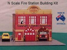 N Scale Fire Station Model Railway Building Kit - NFS1