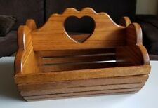 Vintage Handmade Garden Craft Solid Wood Tool Carrier
