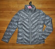 NWT KENNETH COLE REACTION Nickel Gray Down Puffer Jacket Coat Size SMALL