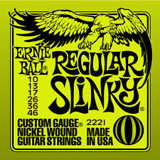 NEW Ernie Ball Regular Slinky 2221 10-46 Nickel Wound Strings 12 Sets Pack
