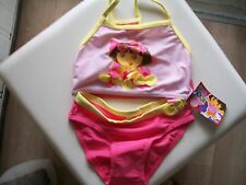 dora the explorer child swimsuit swimmers two piece size 122cm 6 years