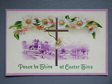 R&L Postcard: Beautiful, Easter Holy Cross Daisy Flowers, Embossed Design