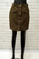 Gonna MOSCHINO Donna Taglia Size 44 Shorts Skirt Woman Vita Alta Marrone Corto