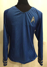 NEW Rubies Star Trek Cosplay Costume Mens Top Size Small Blue Spock Long Sleeve