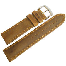 22mm Hirsch Heritage 1765 Honey Tan Made in Austria Leather Watch Band Strap