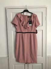 Paper Dolls Pink Ruffle Dress Size 14 New With Tags