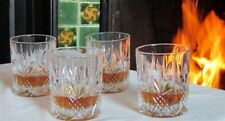 Galway Irish Crystal Abbey Whiskey DOF Tumblers Set of 4 Glasses NEW Box Ireland