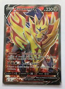 Pokemon TCG Card - Zamazenta V 196/202 - Ultra Rare Full Art - NM - 1¢ start!