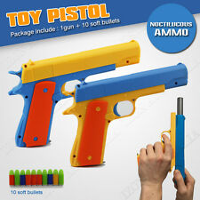 Toy Gun Pistol 10pcs Soft Bullets Realistic 1:1 Colt 1911 OZ