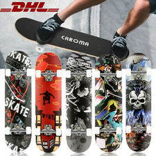 Skateboard Kinderskateboard Komplettboard Deck Funboard Miniboard ABEC7 80x20cm,
