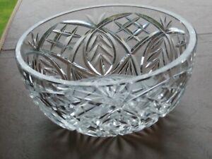 "Stunning Cut Crystal 7"" Salad Bowl - Waterford / Cavan?"