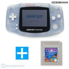 Nintendo GameBoy Advance - Konsole #transparent blau / clear blue + TETRIS Spiel