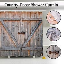 Realistic Shower Curtain Country Style Texas Western Theme Bathroom Bath Fabric