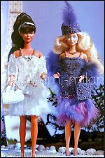 VINTAGE Knitting Pattern • BARBIE DOLLS CLOTHES • CHARLESTON FLAPPER DRESS • BAG