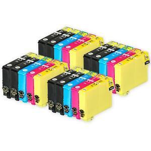 20 Ink Cartridges (Set+Bk) for Epson Stylus S22, SX230, SX425, SX435W, SX445W