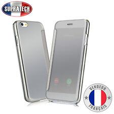 Coque Etui Housse Argent avec Effet Miroir Transparent pour Apple iPhone 6 6S