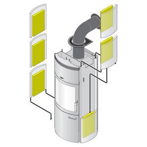 HARK 6x Thermospeichersteine für Kaminöfen Wärmespeicherstein Speicherblock
