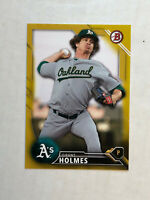 GRANT HOLMES 2016 Bowman Draft GOLD SSP ROOKIE RC /50! #BD142! A'S! INVEST NOW
