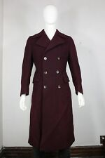 Liberty of London trench coat 38 jacket thick wool maroon mint mens Sweden made