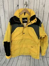 VTG 90s THE NORTH FACE EXTREME GEAR 1/2 Zip Ski Jacket Yellow Color Block Small