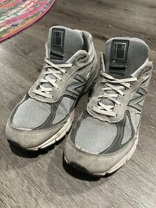 new balnce NB 990 v4 grey made in the USA worn no insoles Sneakers Shoes US 11