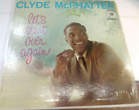 LP 33 Clyde McPhatter Let's Start Over Again MGM Records E3775 US 1969