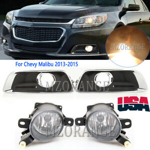 Front Fog Bumper Light Cover For Chevy Malibu 2012 13 14 15 For Cadillac SS SRX