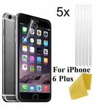 5 x Clear Plastic Screen Guard LCD Protector Film Layer For Apple iPhone 6 Plus