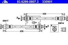 Bremsschlauch - ATE 83.6299-0807.3