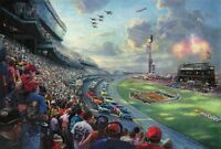 Thomas Kinkade NASCAR THUNDER DAYTONA Limited Edition Canvas 18X27 R/E SIGNED