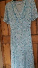 Elegant Ladies Floaty Turquoise dress by M&S Size 18