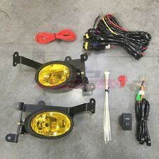 For Honda Civic 06-08 Factory Replacement Fit Fog Lights Wiring Kit Yellow Lens