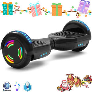 """Hoverboard Black 6.5"""" Bluetooth Self-Balancing Scooters LED Electric Scooter-UK"""