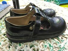 Girls Black Kickers Size 1 EU 33 Genuine Shoes .