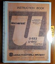 UTB Uzina Tractorul Brasov Universal U-553 U-643 DT V L Tractor Operator Manual
