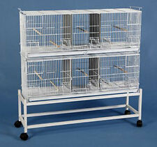 Extra Large Cambo 2 of Bird Finch Canary Breeder Cages Dividers With Stand 684
