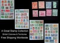 Stamp Collection British Colonies Queensland Victoria Barbados W. Australia Ext.