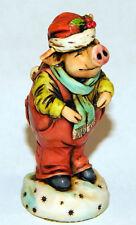 Harmony Kingdom Artist Neil Eyre Designs Christmas Holiday Farm Santa Pig Piggy