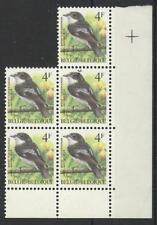 BELGIUM 1985 BIRDS BLUETHROAT CORNER BLOCK MINT