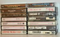 Lot Of 14 ROCK/CLASSIC Cassette Tapes Chicago, Clapton, Abba, Asia, Frampton