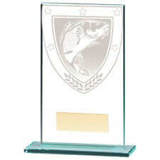 Millennium Fishing Angling Jade Glass Trophy Award 140mm FREE Engraving